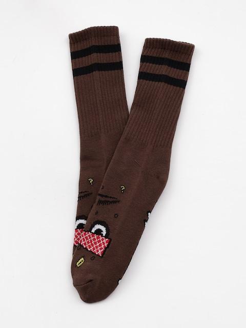 Ponožky Toy Machine Poo Poo Head (brown)