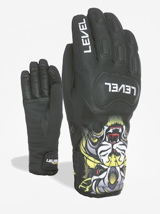 Rukavice Level Race Jr (pk black)