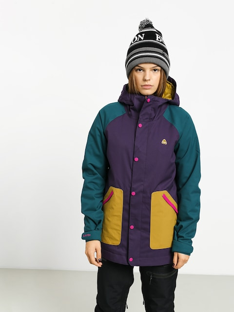 Snowboardová bunda Burton Eastfall Wmn (velvet/dpteal/evilo)