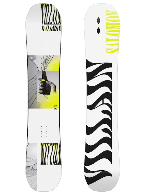 Snowboard Salomon The Villain (white/black)