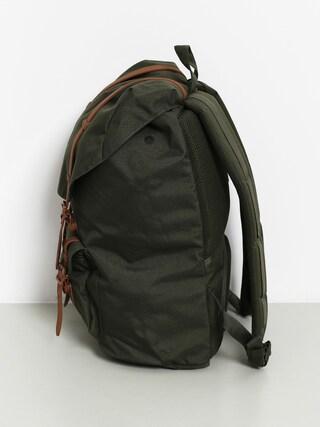 Batoh Herschel Supply Co. Little America (dark olive/saddle brown)