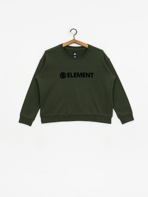Mikina Element Logo Crew Wmn (olive drab)