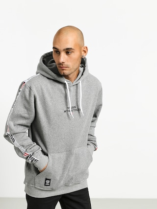 Mikina s kapucí MassDnm Track HD (light heather grey)