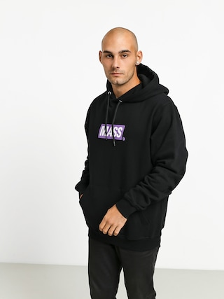 Mikina s kapucí MassDnm Big Box Medium Logo HD (black)