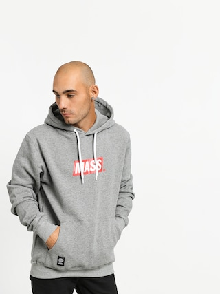Mikina s kapucí MassDnm Big Box Medium Logo HD (light heather grey)