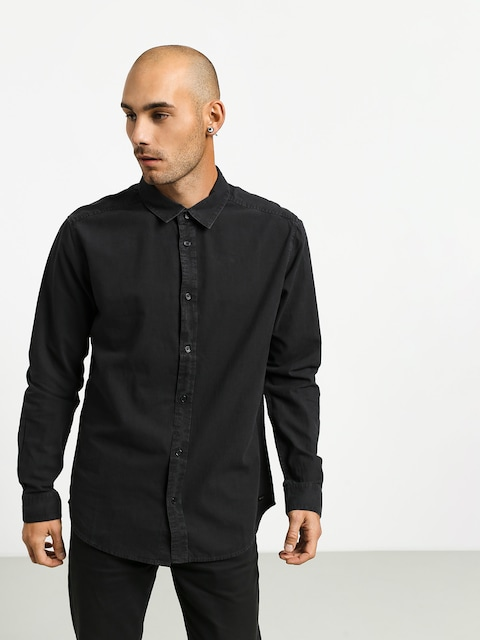 Košile RVCA Crushed Ls (pirate black)