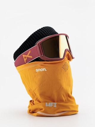 Bru00fdle na snowboard Anon Relapse Mfi (maroon/sonar bronze)