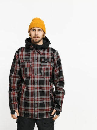 Snowboardovu00e1 bunda Volcom Creedle 2 Stone (red)