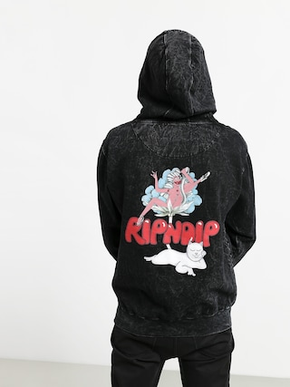Mikina s kapucí RipNDip Cherry Blossom HD (grey mineral wash)