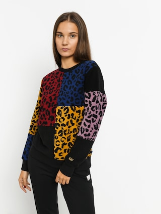 Mikina Vans Wyld Tangle Wmn (leopard patchwork)