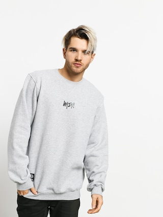 Mikina MassDnm Signature Small Logo (light heather grey)