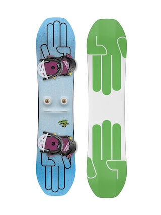 Snowboard set Bataleon Minishred (white/green)