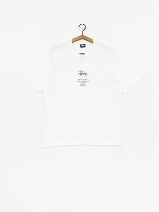 Tričko Stussy City Stack (white)