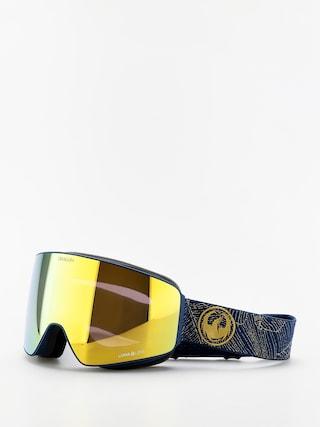 Bru00fdle na snowboard Dragon PXV (golden palms/lumalens gold ion/lumalens amber)