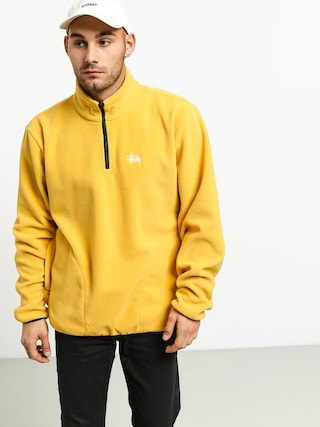 Mikina Stussy Basic Polar Fleece Mock (mustard)