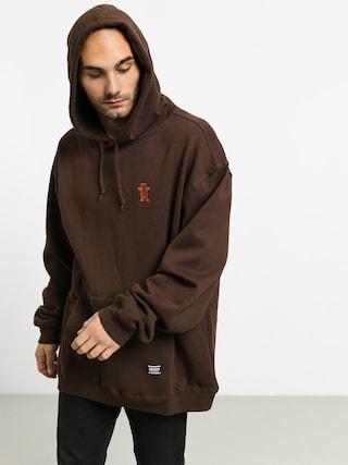 Mikina s kapucí Grizzly Griptape Og Bear Embroidered HD (chocolate/tan)