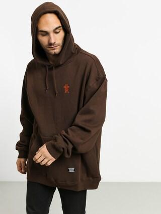 Mikina s kapucu00ed Grizzly Griptape Og Bear Embroidered HD (chocolate/tan)
