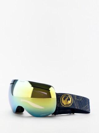 Bru00fdle na snowboard Dragon X1 (golden palms/lumalens gold ion/lumalens amber)