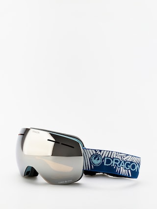 Brýle na snowboard Dragon X1s (woven palms/lumalens silver ion/lumalens flash blue)