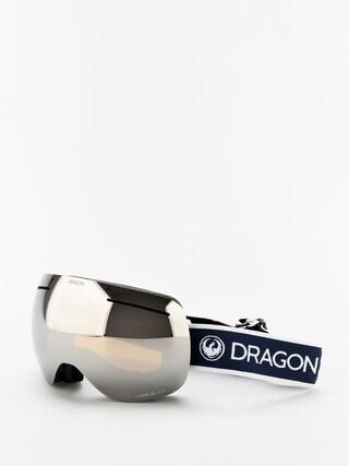 Bru00fdle na snowboard Dragon X1 (designer/lumalens silver ion/lumalens flash blue)