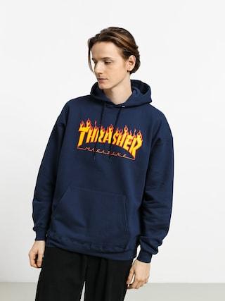 Thrasher Mikina s kapucí Flame HD (navy)