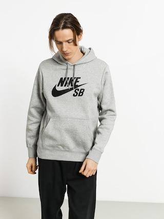 Mikina s kapucí Nike SB Sb Icon HD (dk grey heather/black)
