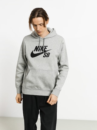Mikina s kapucu00ed Nike SB Sb Icon HD (dk grey heather/black)