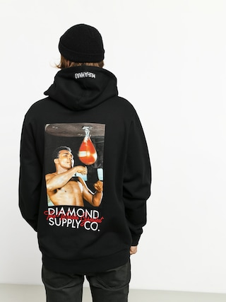 Mikina s kapucí Diamond Supply Co. Dmnd X Muhammad Ali Worlds Greatest HD (black)