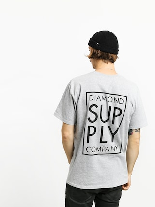Triu010dko Diamond Supply Co. Stacked Type (heather grey)