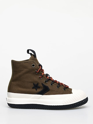 Tenisky Converse Bosey Mc Water Repellent Wmn (surplus olive/campfire orange)