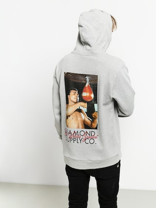 Mikina s kapucu00ed Diamond Supply Co. Dmnd X Muhammad Ali Worlds Greatest HD (heather grey)