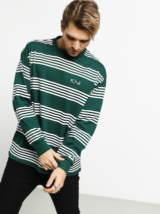 Triko Polar Skate Striped (dark green)