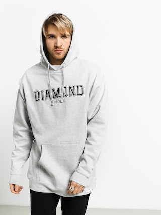 Mikina s kapucu00ed Diamond Supply Co. Sf Diamond HD (heather grey)