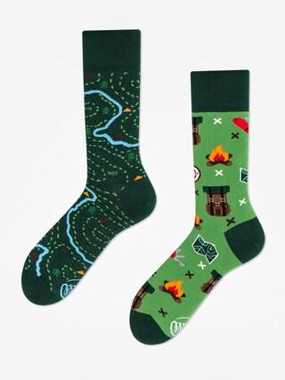 Ponožky Many Mornings The Map (green)