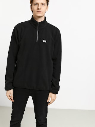 Mikina Stussy Basic Polar Fleece Mock (black)