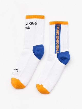 Ponou017eky Happy Socks Athletic Local Heroes 3/4 (white/orange)