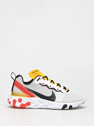 Boty Nike React Element 55 (white/black bright crimson)