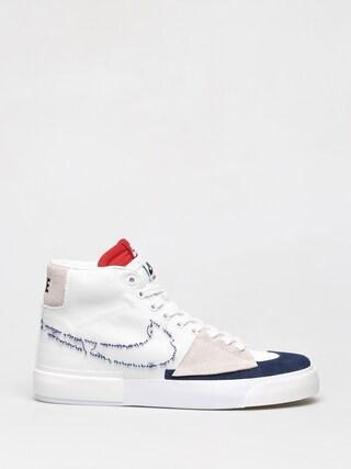 Boty Nike SB Zoom Blazer Mid Edge (white/midnight navy university red)