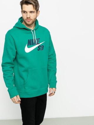 Mikina s kapucí Nike SB Sb Icon HD (neptune green/white)