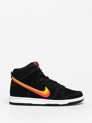 Boty Nike SB Dunk High Pro (black/university gold team orange)