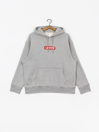 Mikina s kapucí Levi's Relaxed Graphic Box Tab HD (grey)