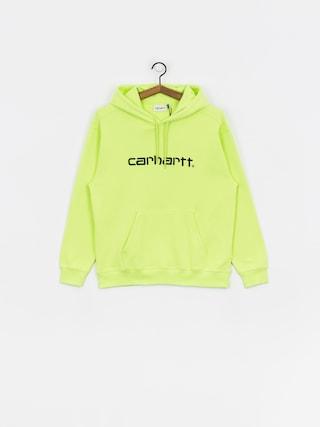 Mikina s kapucu00ed Carhartt WIP Carhartt HD Wmn (lime/black)