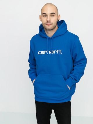 Mikina s kapucu00ed Carhartt WIP Carhartt HD (azzuro/white)