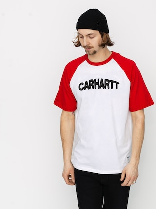 Tričko Carhartt WIP Acre Script (white/etna red/black)