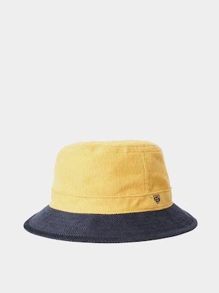 Klobouk Brixton B Shield Bucket Hat (sunset yellow/washed navy)