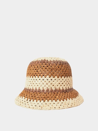 Klobouk Brixton Essex Raffia Bucket Hat Wmn (tan/brown)