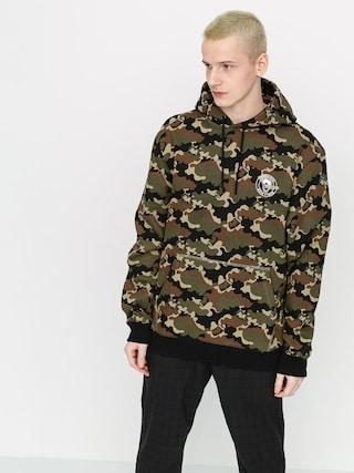 Mikina s kapucí Volcom X Macba Life HD (camouflage)