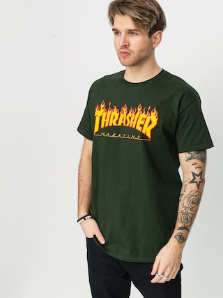 Triu010dko Thrasher Flame Logo (forest green)
