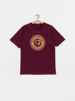 Tričko Brixton Forte Stt (burgundy)