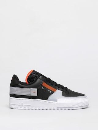 Boty Nike Air Force 1 Type (black/hyper crimson wolf grey white)